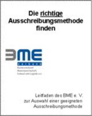 BME-Leitfaden Die richtige Ausschreibungsmethode finden