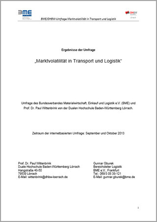 Logistik-Umfrage 2013 - Marktvolatilität
