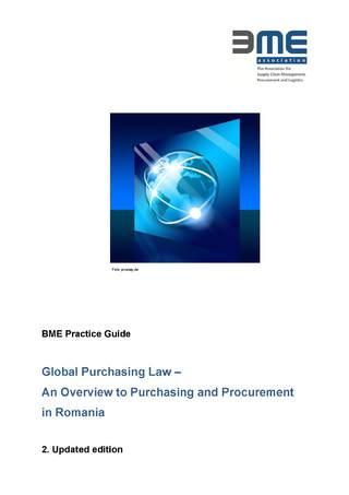 Praxisleitfaden Globales Einkaufsrecht Rumänien - englische Sprache