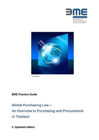 Praxisleitfaden Globales Einkaufsrecht Thailand- englische Sprache