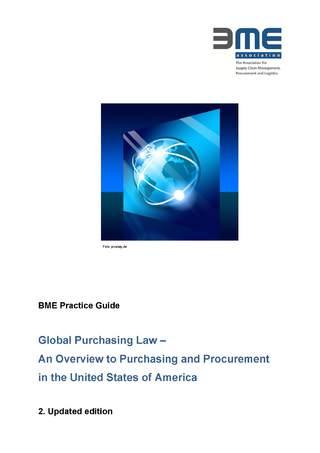 Praxisleitfaden Globales Einkaufsrecht USA- englische Sprache