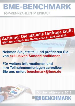 BME-Benchmark Top-Kennzahlen im Einkauf - Durchschnittswerte