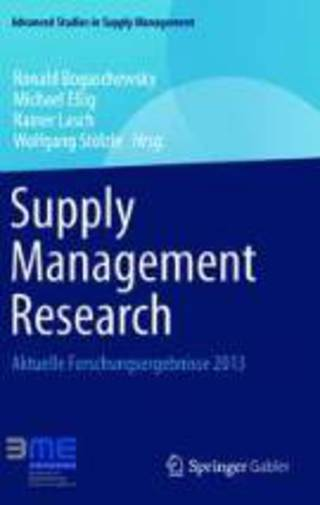 Supply Management Research 2013