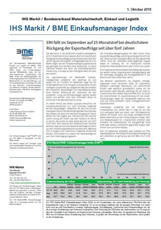 IHS Markit / BME Einkaufsmanager Index (Veröffentlichung E-Mail)
