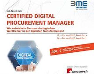 """Certified Digital Procurement Manager"""