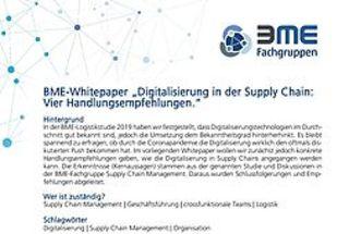 """""""Digitalisierung in der Supply Chain: Vier Handlungsempfehlungen"""""""