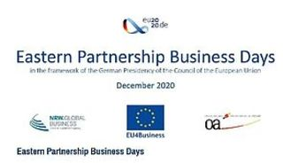 """""""Eastern Partnership Business Days 2020"""" geplant"""