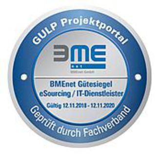 """BMEnet Gütesiegel """"eSourcing/IT Dienstleister"""" erneut an GULP verliehen"""