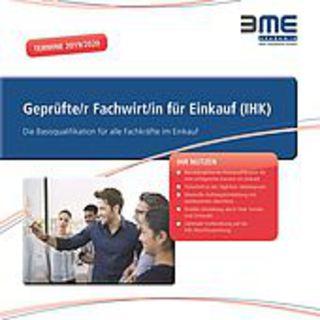 """BME-Zertifikatslehrgang """"Geprüfte/r Fachwirt/in für Einkauf (IHK)"""" erstmals in Berlin"""