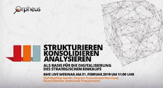 """Live-Webinar """"Digitalisierung des strategischen Einkaufs"""""""